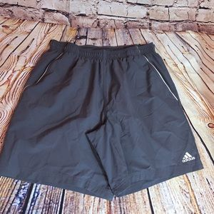 Adidas Shorts Sports Athletic Wear Gray Climalite